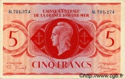 5 Francs type 1943 AFRIQUE ÉQUATORIALE FRANÇAISE  1943 P.15a SPL