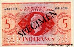 5 Francs type 1943 AFRIQUE ÉQUATORIALE FRANÇAISE  1943 P.15as SPL
