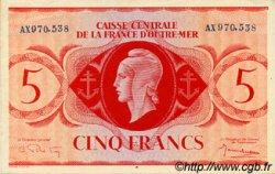 5 Francs type 1943 AFRIQUE ÉQUATORIALE FRANÇAISE  1943 P.15b SPL