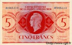 5 Francs type 1943 AFRIQUE ÉQUATORIALE FRANÇAISE  1943 P.15b NEUF