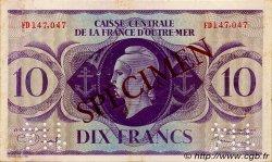 10 Francs type 1943 AFRIQUE ÉQUATORIALE FRANÇAISE  1943 P.16as TTB+