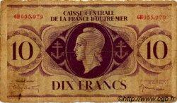 10 Francs AFRIQUE ÉQUATORIALE FRANÇAISE  1943 P.16b B+