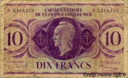 10 Francs type 1943 AFRIQUE ÉQUATORIALE FRANÇAISE  1943 P.16d B