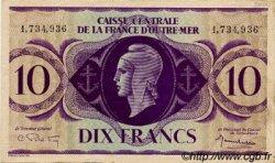 10 Francs AFRIQUE ÉQUATORIALE FRANÇAISE  1943 P.16c TTB+