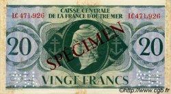 20 Francs type 1943 AFRIQUE ÉQUATORIALE FRANÇAISE  1943 P.17as TTB+