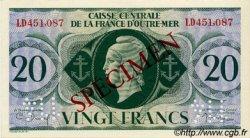 20 Francs type 1943 AFRIQUE ÉQUATORIALE FRANÇAISE  1943 P.17as SPL