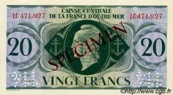 20 Francs type 1943 AFRIQUE ÉQUATORIALE FRANÇAISE  1943 P.17as pr.NEUF