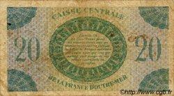 20 Francs type 1943 AFRIQUE ÉQUATORIALE FRANÇAISE  1943 P.17b B