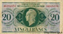 20 Francs type 1943 AFRIQUE ÉQUATORIALE FRANÇAISE  1943 P.17b TB+