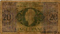 20 Francs type 1943 AFRIQUE ÉQUATORIALE FRANÇAISE  1946 P.17d AB