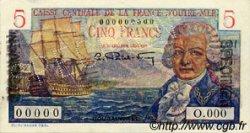 5 Francs Bougainville type 1946 AFRIQUE ÉQUATORIALE FRANÇAISE  1946 P.20Bs pr.NEUF