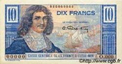 10 Francs Colbert AFRIQUE ÉQUATORIALE FRANÇAISE  1946 P.21s pr.SPL