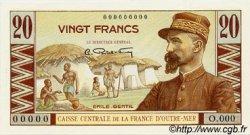 20 Francs Émile Gentil AFRIQUE ÉQUATORIALE FRANÇAISE  1946 P.22 FDC