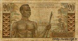 20 Francs Émile Gentil AFRIQUE ÉQUATORIALE FRANÇAISE  1946 P.22 B+