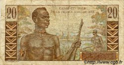 20 Francs Émile Gentil AFRIQUE ÉQUATORIALE FRANÇAISE  1946 P.22 TB