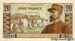 20 Francs AFRIQUE ÉQUATORIALE FRANÇAISE  1946 P.22 SUP