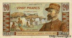 20 Francs Émile Gentil AFRIQUE ÉQUATORIALE FRANÇAISE  1946 P.22 SPL