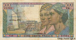 500 Francs Pointe-à-Pitre type 1946 AFRIQUE ÉQUATORIALE FRANÇAISE  1946 P.25 TB