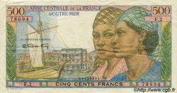 500 Francs Pointe-à-Pitre type 1946 AFRIQUE ÉQUATORIALE FRANÇAISE  1946 P.25 TTB