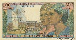 500 Francs Pointe-à-Pitre type 1946 AFRIQUE ÉQUATORIALE FRANÇAISE  1946 P.25 pr.SPL