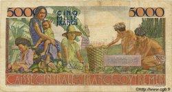 5000 Francs Schoelcher type 1946 AFRIQUE ÉQUATORIALE FRANÇAISE  1946 P.27 B à TB
