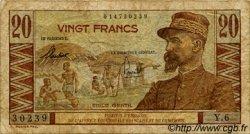 20 Francs CAMEROUN  1957 P.30 B+