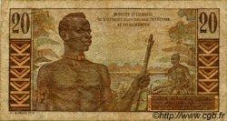 20 Francs AFRIQUE ÉQUATORIALE FRANÇAISE  1957 P.30 B+