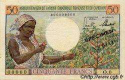 50 Francs type 1957 CAMEROUN  1957 P.31s SUP