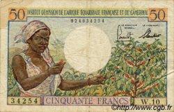 50 Francs AFRIQUE ÉQUATORIALE FRANÇAISE  1957 P.31 TB