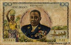 100 Francs type 1956 taille douce CAMEROUN  1957 P.32 B+