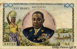 100 Francs type 1956 taille douce CAMEROUN  1957 P.32 TTB