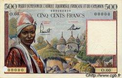 500 Francs AFRIQUE ÉQUATORIALE FRANÇAISE  1957 P.33s TTB+ à SUP