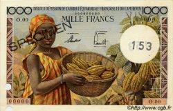 1000 Francs type 1957 taille douce CAMEROUN  1957 P.34s SUP