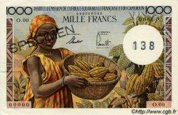 1000 Francs type 1957 taille douce CAMEROUN  1957 P.34s SUP+ à SPL