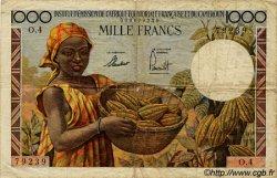 1000 Francs type 1957 taille douce CAMEROUN  1957 P.34 B+