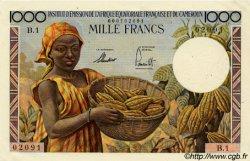 1000 Francs type 1957 taille douce CAMEROUN  1957 P.34 SPL