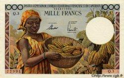 1000 Francs type 1957 taille douce CAMEROUN  1957 P.34 pr.NEUF