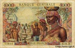 1000 Francs type 1962 sans taille douce CENTRAFRIQUE  1962 P.05f TB