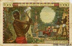 1000 Francs type 1962 sans taille douce CONGO  1962 P.05g B+
