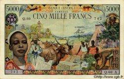 5000 Francs type 1962 TCHAD  1962 P.06a TTB