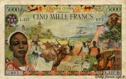 5000 Francs type 1962 GABON  1962 P.06d TB
