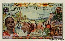 5000 Francs type 1962 ÉTATS DE L