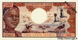 500 Francs type 1973 TCHAD  1973 P.02as SPL