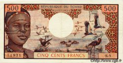 500 Francs type 1973 TCHAD  1973 P.02a TTB
