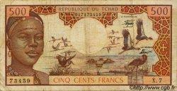 500 Francs type 1973/1978 TCHAD  1978 P.02b B à TB