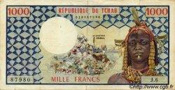 1000 Francs TCHAD  1973 P.03a TTB
