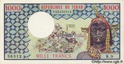1000 Francs TCHAD  1973 P.03b SPL