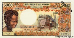 5000 Francs type 1975 TCHAD  1976 P.05as SPL