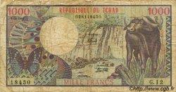 1000 Francs type 1980 TCHAD  1980 P.07 B