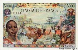 5000 Francs type 1980 TCHAD  1980 P.08 pr.NEUF